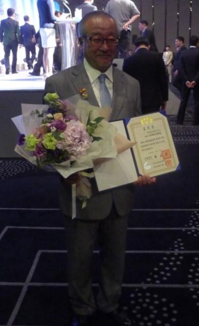大韓民国大統領賞を持つ高橋健彦教授